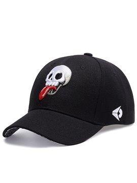 Skull Embroidery Punk Rock Hip Hop Baseball Caps Adjustable Breathable Snapback Headwear Outdoor Trucker Hats Dad Hats