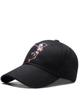 Unisex Skull Embroidered Baseball Caps Adjustable Breathable Snapback Headwear Outdoor Trucker Hats Dad Hats Summer Sun Hat