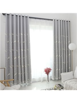 Modern Birds Embroidery Curtain Sets Sheer and Lining Blackout Curtain for Living Room Bedroom Decoration No Pilling No Fading No off-lining