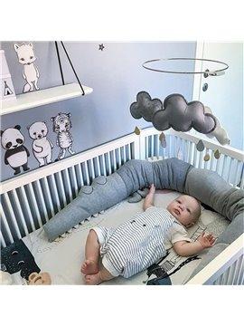 Baby Bed Guard Fence Crib 185cm Cute Crocodile Infant Alligator Pillow Cradle Cushion Newborn Baby Sleep Protector Crib Nursery Bedding (Gray)