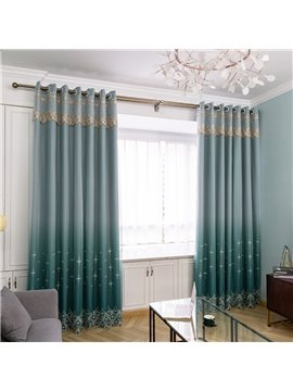 European High-end Green Curtain Sets Sheer and Lining Blackout Curtain for Living Room Bedroom Decoration No Pilling No Fading No off-lining