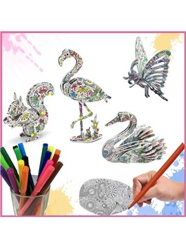3D Three-dimensional Graffiti Puzzles Children's Educational Toy Christmas Gift Decompression Toy Gift