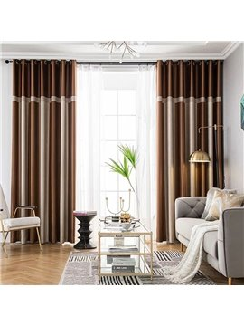 Modern Simple Style Shading Curtains for Living Room Bedroom Decoration Custom 2 Panels Drapes No Pilling No Fading No off-lining