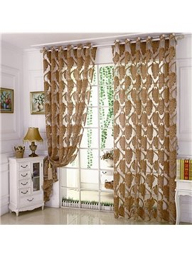 European Style Embroidery Sheer Curtains for Living Room Bedroom Decoration Custom 2 Panels Breathable Voile Drapes No Pilling No Fading No off-lining Polyester