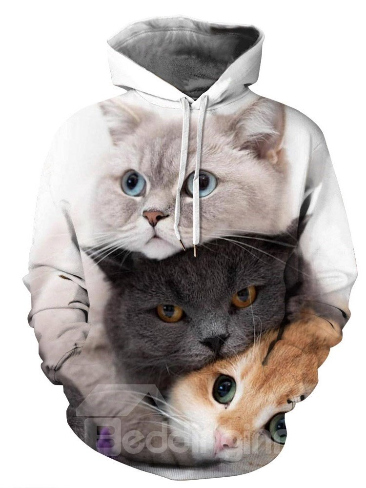 Creative 3D Printed Cats Mens Hoodie Couple Outfit Unisex Pullover Hoodies Fashion Long Sleeve Loose Sweatshirt Sportswear Creative 3D Printed Cats Mens Hoodie Couple Outfit Unisex Pullover Hoodies Fashion Long Sleeve Loose Sweatshirt Sportswear