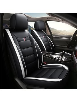 5 Seats Durable Leather Environmentally Friendly and Breathable Linen Material Security No Odor Stain Resistant Wear Resistant Full Coverage Four Seasons Universal Seat Covers