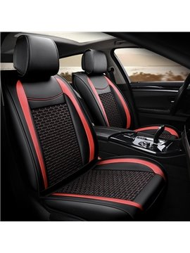 High Quality Leather and Breathable Environmentally Friendly Materials Skin Friendly Durable Wear Resistant Airbag Compatible 5 Seats Universal Fit Seat Covers