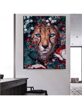 3D Leopard Non-framed Prints Wall Decorations Oil Painting Canvas Wall Art for Bedroom Living Room