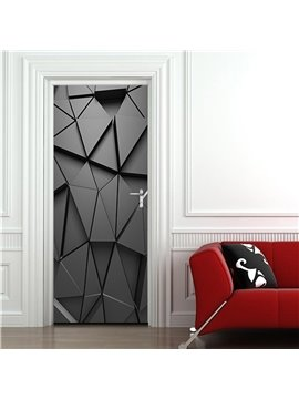 Abstract Geometric Pattern Self-adhesive Waterproof Door Murals Eco-friendly Removable Decorative Stickers