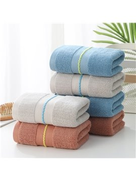 Jacquard Rectangular Cotton Plain Towel Simple Style Face & Hand Towel