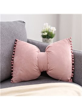 Detachable Cushion Pure Color in Bowknot Pillow Cute Princess Bedside Pillow