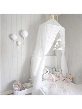 Children's Room Decoration Tents Dome Children's Dreamy Bed Curtains White Indoor Bed Nets