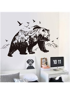 Polar Bear Cucoloris Self-adhesive Removable Waterproof Wall Stickers Wall Decals