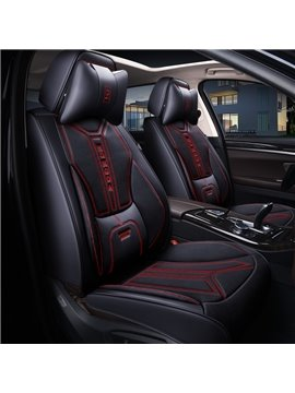 Detachable Headrest Ergonomic Design Comfortable and Breathable Hard-wearing Dirt-proof Scratch Proof Not Easy to Fall Off 5 Seats Universal Fit Seat Covers