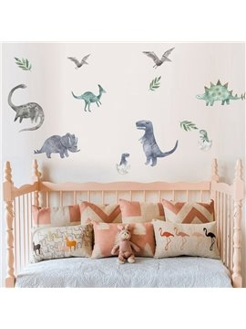 Dinosaur Decorative Stickers Wall Decals Personalized Kid's Room Cartoon PVC Stickers for Girls Boys Bedroom Living Room Study Room Shops