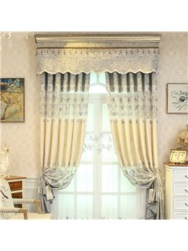 European Embroidery Floral Sheer Curtains for Living Room Bedroom Decoration Custom 2 Panels Breathable Voile Drapes No Pilling No Fading No off-lining Polyester
