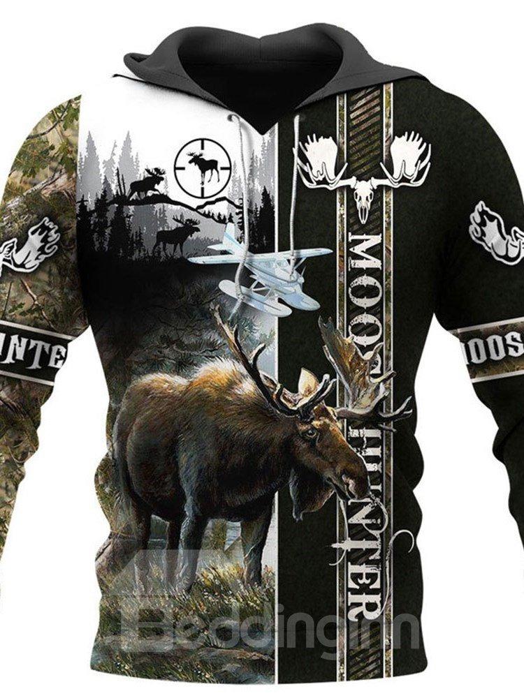 Casual 3D Printed Moose Hunter Mens Hoodie Couple Outfit Unisex Pullover Hoodies Fashion Long Sleeve Loose Sweatshirt Sportswear Casual 3D Printed Moose Hunter Mens Hoodie Couple Outfit Unisex Pullover Hoodies Fashion Long Sleeve Loose Sweatshirt Sportswear