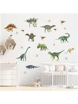 Cute Dinosaurs Self Adhesive Vinyl Sticker Removable Wall Stickers Decal Kids bedroom Home Decor