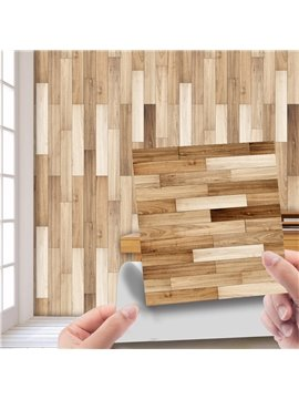 Wood Wall Stickers Wood Peel and Stick Wallpaper Faux Wood Plank Paper Self Adhesive Removable Wall Decorative Reclaimed Wood Look Vinyl Film