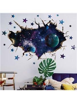 3D Starry Sky Wall Stickers Galaxy Planet Wall Door Stickers Poster Window Art Decals Kids Beedroom Decor