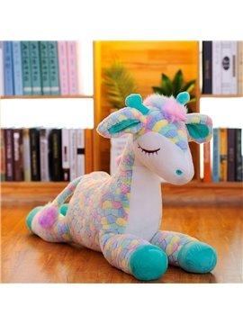 Baby Cartoon Toy Plush Lying Sika Deer Stuffed Animal  Skin-friendly Soft
