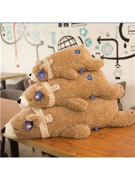 Creative Plush Polar Bear Long Hair Soft Doll Cartoon Bear Pillow Large Size Rag Doll Ivory Brown 55/75/105cm