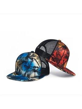 Graffiti Hawaii Coconut Tree Printed Baseball Cap Hat Unisex Adjustable Casual Snapback Summer UV Protection Hip Hop Hat