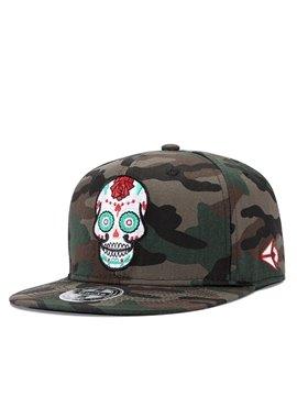 Skull Camo Printed Hats Baseball Cap Graffiti Unisex Snapback Hip Hop Hats Cool Adjustable Summer UV Protection Hats