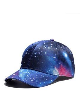 Purple Galaxy Snapback Hat Unisex UV Protection Trucker Hat Hip Hop Plaid Flat Bill Brim Adjustable Baseball Cap