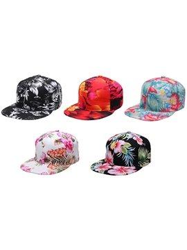Floral Flower Print Baseball Cap Women Teen Girls Caps Fashion Casual Adjustable Hats Summer Sports Sun UV Protection