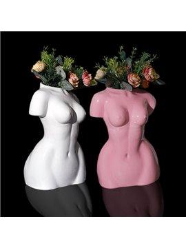 Body Art Figure Flower Vase Nude Female Sculpture Decoration Creative Art Work