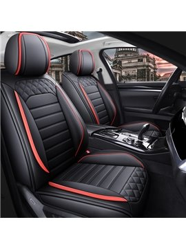 Durable and Breathable Leather Material Two Styles 5 Seats Universal Fit Seat Covers