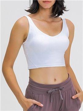 Women's Sports Bra Underwear Yoga wear Crop Tank Tops Gym Fitness wear Sleeveless Running Vest Shirts Activewear