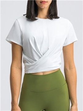 Women's Short Sleeve Yoga Tops Activewear Running Workouts T-Shirt