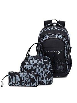 Fashion School Bag Backpack with Florescent Mark 3 Sets