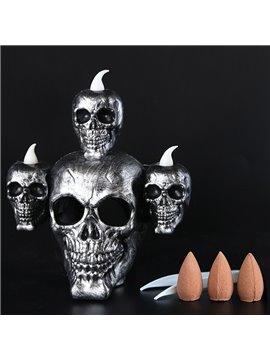 Halloween Skull Lamp, Horror Candle Lamp Smoke Sandalwood Decoration, Party Lamps Prop, Skeleton Ghost Flameless Candle Lamp Party Bar Decoration Lamp