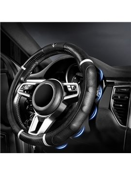 Car Steering Wheel Cover with Leather Nails Anti-Slip Design - Universal Fit