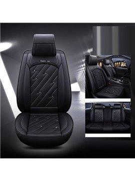 Car Seat Covers, Faux Leatherette Automotive Vehicle Cushion Cover for Cars SUV Pick-up Truck Universal Fit Set for Auto Interior Accessories