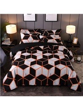 Modern 3-Piece Geometric Marbling Print Bedding / Duvet Cover Set Polyester