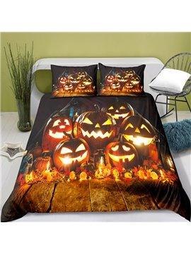 3D Halloween Bedding Set 3-Piece Set 1 Duvet Cover 2 Pillowcases Kids Bedding
