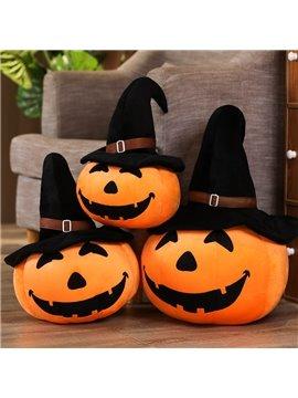 Halloween Pumpkin Funny Pillow Wearing A Hat Pumpkin Plush Toy