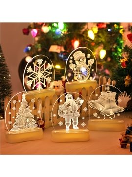 Popular Festival Christmas Indoor Decoration 3D Table Lamp