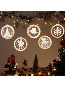 Christmas String Lights LED Decorative Novelty Hanging 3D Lights For Indoor Windows Wall Door