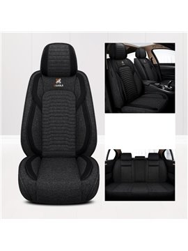 Linen Material Comfortable Full Set Car Seat Covers Universal Fit for Most Cars Front and Rear Car Seat Protection Car Interior Accessories