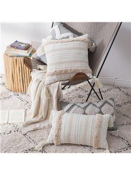 Moroccan Style Tufted Throw Pillow Sofa Cushion Waist Pillow