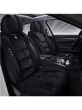 Warm Plush Car Seat Covers Full Set Universal Fit Seat Covers Car Interior Accessories Suitable for Most Cars