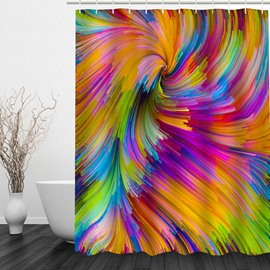 3D Gradient Colorful Polyester Bathroom Shower Curtain