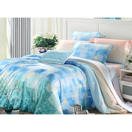 High Quality Comfy Beautiful 4 Pieces Tencel Bedding Sets