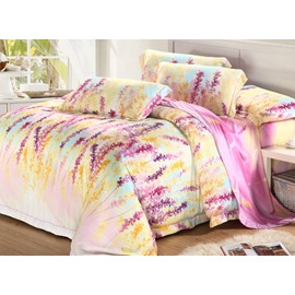 High Quality Charming Patterns 4 Pieces Tencel Bedding Sets