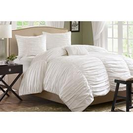 Pure White Lace Princess Style Cotton 4-Piece Bedding Sets/Duvet Cover